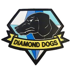 Diamond Dogs Metal Gear Solid Big Boss Snake PVC Gomme 3D Velcro Écusson Patch