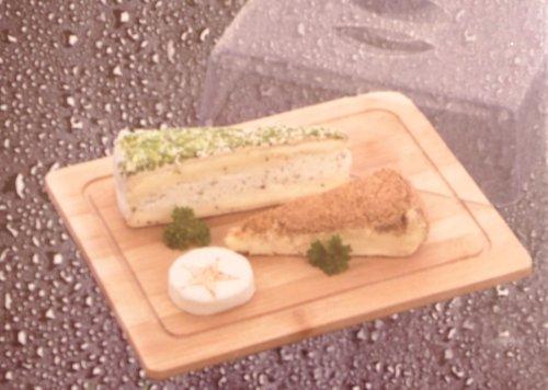 iOSSS - Tabla para quesos de madera de bambú con tapa