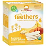 Happy Baby Gentle Teethers Organic Teething Wafers, Banana & Sweet Potato 12 Ea (Pack Of 1)