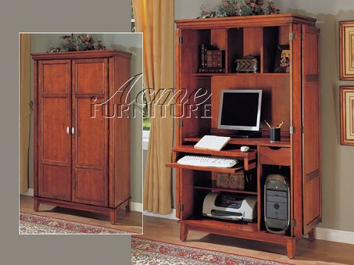 Buy Low Price Comfortable All new item Medium oak finish wood computer armoire cabinet (B0014B2BGK)