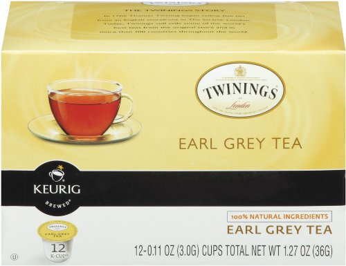 Twinings Of London K-Cup Portion Pack For Keurig K-Cup Brewers Decaffeinated Earl Grey Tea, 72 Count (Pack Of 6)