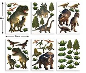 wandsticker dinosaurier wandtattoos deko dino aufkleber. Black Bedroom Furniture Sets. Home Design Ideas