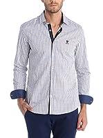 SIR RAYMOND TAILOR Camisa Hombre (Blanco / Azul)