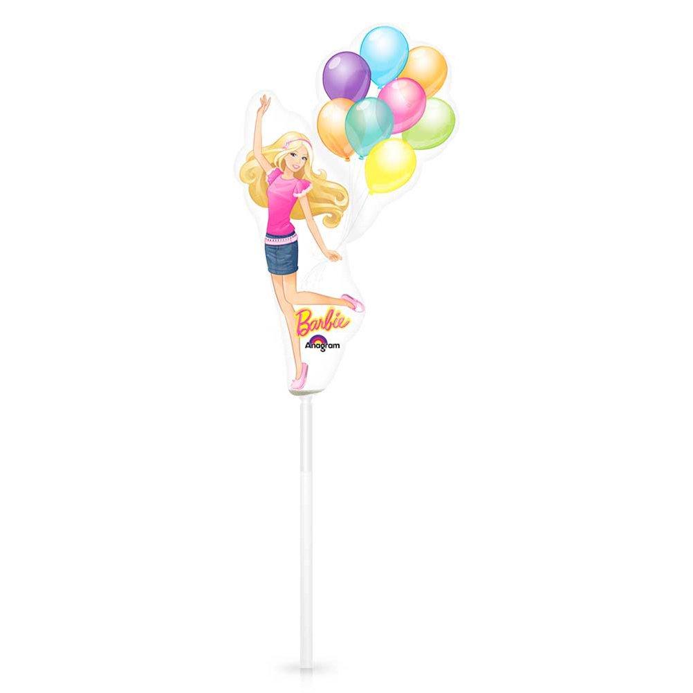 16 x Folienballon Luftballon Barbie mit Stab – 27 cm günstig bestellen