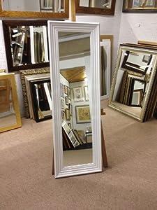 3 modern white framed long and full length dressing for Long white wall mirror