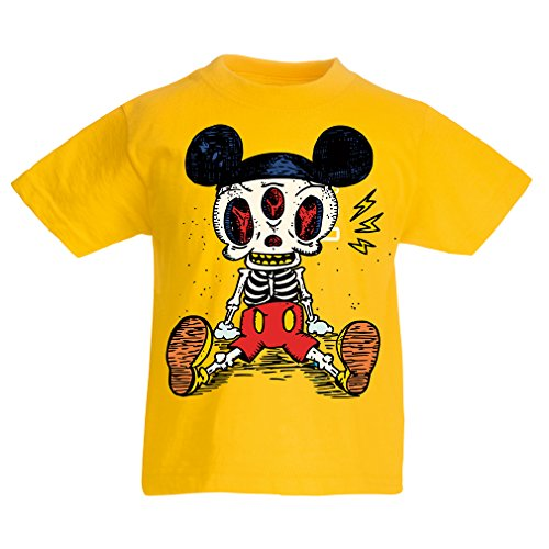 funny-t-shirts-for-kids-skeleton-of-a-mouse-7-8-years-yellow-multi-color