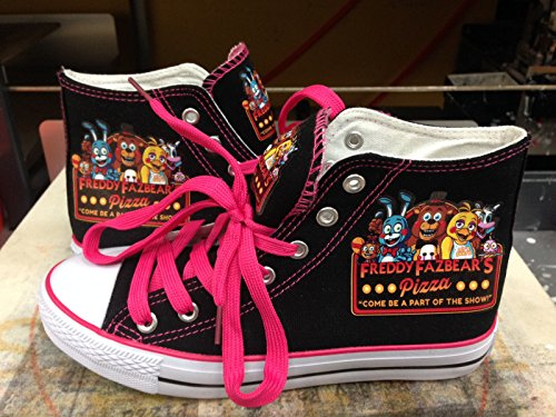 New Red Cheeks Shoes FNAF Fan PINK Kids and Womens Only
