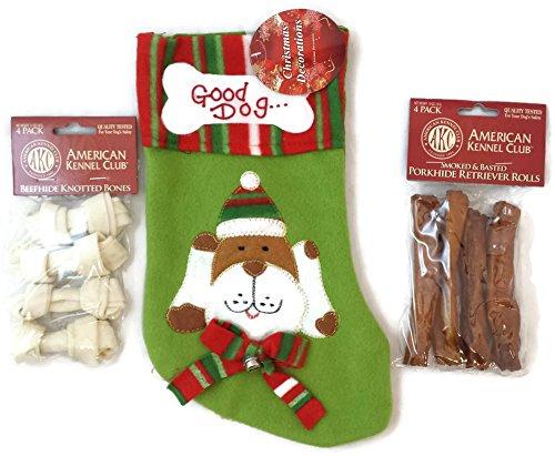 Good Dog Christmas Stocking With Bonus Treats