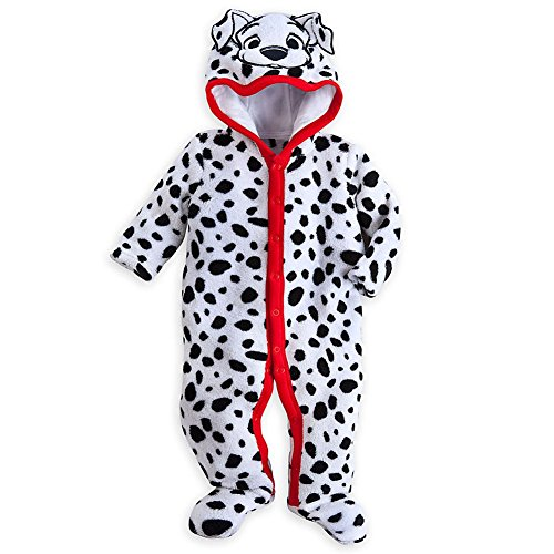 Disney Store 101 Dalmatians Deluxe Hooded Costume Romper Size 6-9 Months (Dalmatian Costumes For Toddlers)