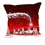 MeSleep Merry Christmas Cushion Covers In Digital Print - B018K9JIJQ