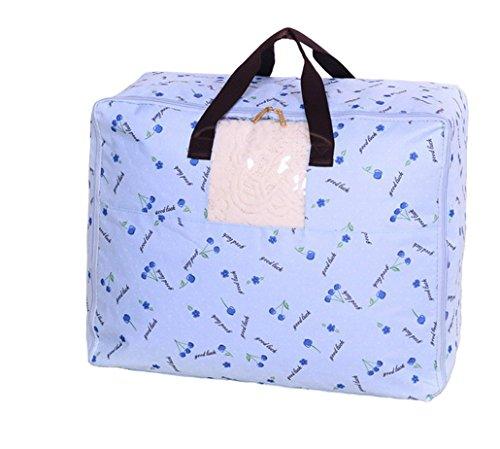 Grande Tissu Oxford étanche à la poussière couverture boîte sacs avec fermeture éclair rangement pour les vêtements en coton Couettes (L)