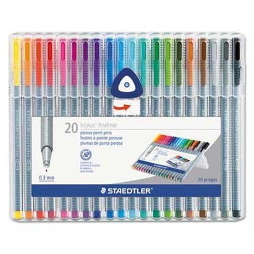 staedtler-triplus-fineliner-marker-super-fine-water-based-20-color-set