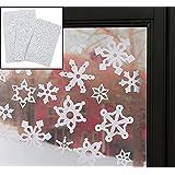 "Snowflake Window Clings (69 Pcs. Per Set) 1 1/2"" - 3"". Reusable Vinyl."