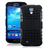 JKase DIABLO Series Tough Rugged Dual Layer Protection Case Cover with Build in Stand for Galaxy S4 Mini i9190 - Retail Packaging (Black)