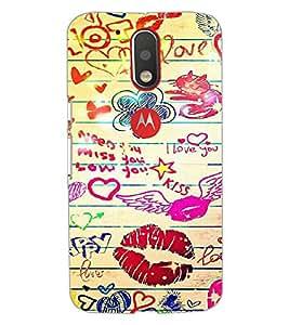 Printdhaba Love D-6097 Back Case Cover For Motorola Moto G4 Plus