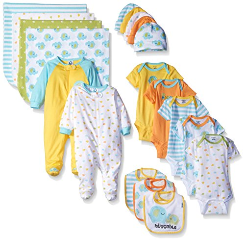 Gerber Baby 19 Piece Essentials Gift Set, Elephant, New Born
