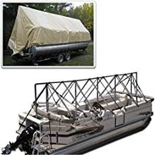 Navigloo 23 to 24 ft Storage System Pontoon with Tarpaulin Cover does not cover motor