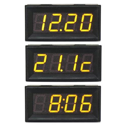 """Drok™"""" 4-Digit 0-200V Digital Voltmeter Led Electric Car/Motor Time Temperature..."""