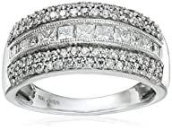 10k White Gold Princess and Round Dia…