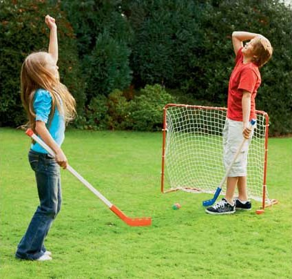 Riley Active Kids Hockey Stick And Goal Set