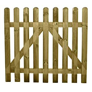 Cancelletto in legno con chiavistello e montanti amazon - Cancelletto in legno fai da te ...
