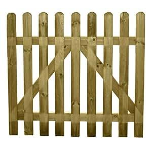 Papillon 8091585 cancello di giardino in legno 100x100 - Cancelli in legno per giardino ...
