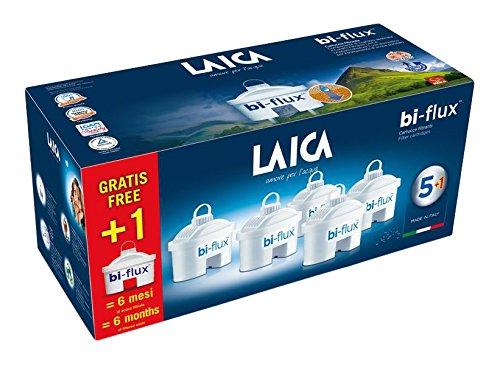 Laica F6S Cartuccia Filtrante Bi-Flux, 6 Pezzi