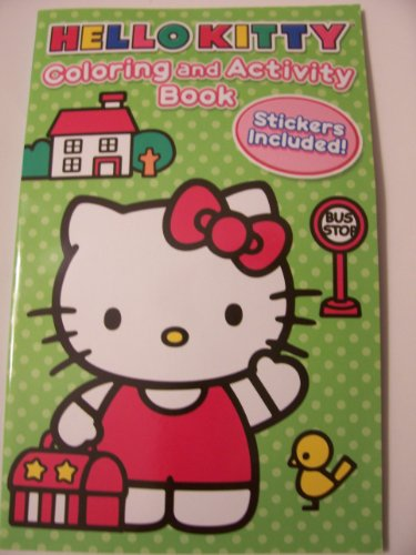 "Hello Kitty Coloring and Activity Book with Stickers ~ Kitty Travels (5.25"" x 8.25"")"