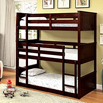 HOMES: Inside + Out IDF-BK628 Ringo Bunk Bed Childrens Frames, Twin/Twin/Twin