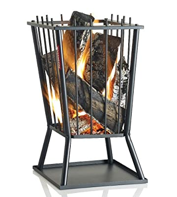 Ingarden Fire Pit Modern Square Steel Outdoor Fire Basket from INGARDEN