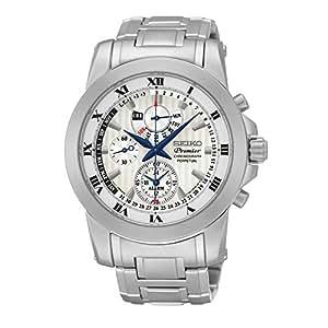 SEIKO SPC159P1, Men's Premier, Perpetual Alarm Chronograph,