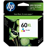 HP Genuine 60XL CC644WN HY Color Ink Cartridge in foil packaging