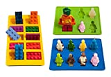 Lucentee Silly Candy Molds & Ice Cube Trays - Lego Building Bricks and Figures