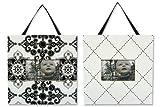 Trend Lab Versailles Black and White 2 Piece Frame Set