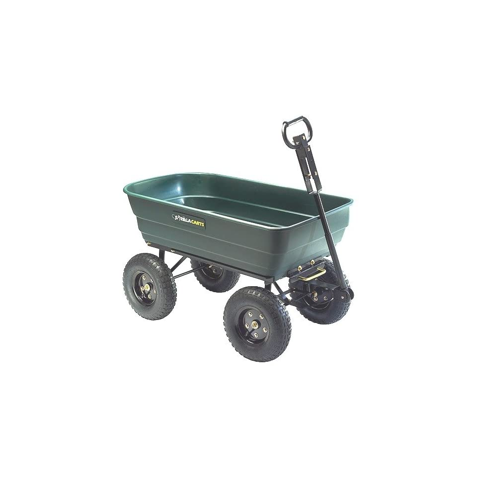 Tricam GOR108 SC Gorilla Carts 1, 000 Pound Capacity Dumping Cart (Discontinued by Manufacturer)  Yard Carts  Patio, Lawn & Garden