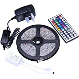 Tingkam® Waterproof 5M 5050RGB Led Strips Lighting Full Kit With 44Key IR Remote For Home lighting and Kitchen