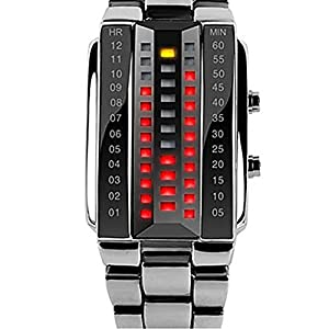 Soleasy Men's Fashion LED 3D Glass Surface Design Water Resistant Wrist Watch(Silver)WTH8069 from Soleasy