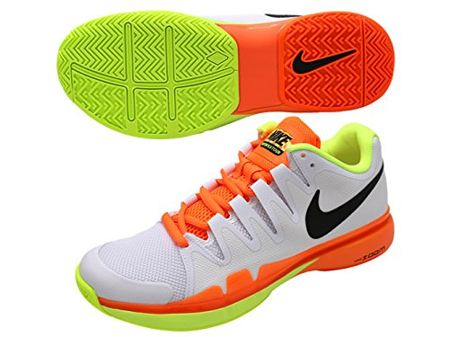 Nike Men's Zoom Vapor 9.5 Tour Tennis Shoe (U.S. Open 2016) (10, White/Black/Volt/Total Orange) (Nike Vapor Shirt compare prices)