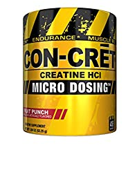 CON-CRET Creatine HCL, Fruit Punch, 48 Servings