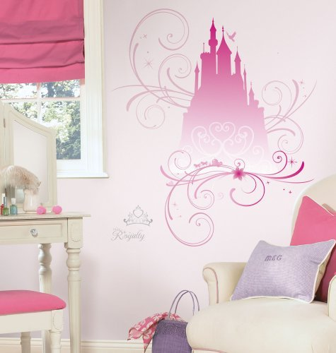 Roommates Rmk2168Gm Disney Princess Scroll Castle Peel And Stick Giant Wall Decals, 1-Pack Color: Castle W/Glitter Toy, Kids, Play, Children front-766544