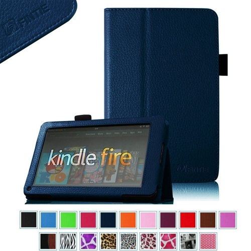 Why Should You Buy FINTIE (Navy) Slim Fit Folio Stand Leather Case for Amazon Kindle Fire 7 Tablet ...
