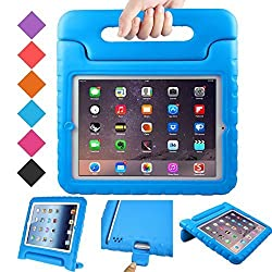 BMOUO iPad 2 3 4 Case - Kids Case Shock Proof Convertible Handle Light Weight EVA Super Protective Stand Cover for Apple iPad 4, iPad 3 & iPad 2 2nd 3rd 4th Generation, Blue