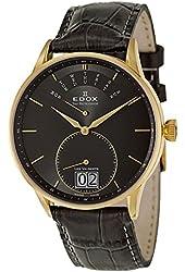 Edox Les Vauberts Day Retrograde Men's Quartz Watch 34005-37JG-GID