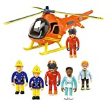 Fireman Sam Mountain Rescue Helicopter & 5 Figure Articulated Set