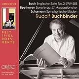 Bach: Englische Suite No.3 BWV 808; Beethoven: Sonate, op.57 Appassionata; Schumann: Symphonische Etuden [Import]