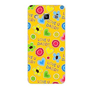 Vibhar printed case back cover for Samsung On7 LoveUDaddy