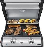 Premium-BBQ-Tischgrill-VG-500-Tischgrill-zwei-individuell-regelbaren-Heizsystemen
