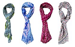 Multi-Color Printed Stoles Combo For Girls And Woman By Slover