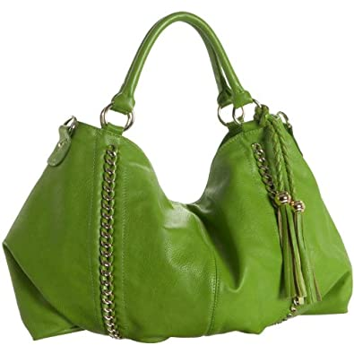 Melie Bianco Miley Shoulder Handbag (Lime)