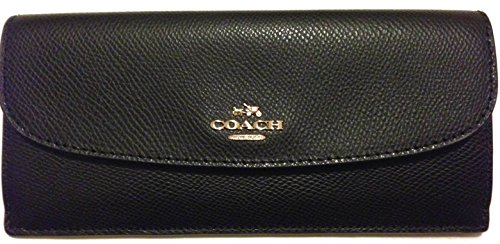 Coach Saffiano Leather Soft Wallet Black F54008